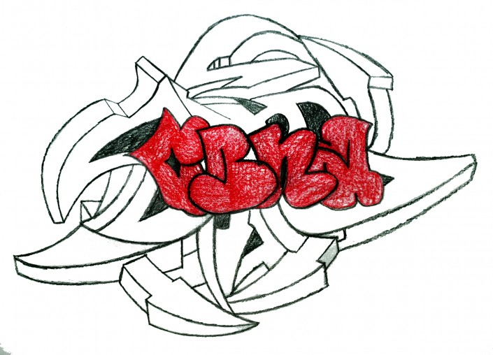 CBNA by Kristopher Bowers - Colored Pencil on Paper