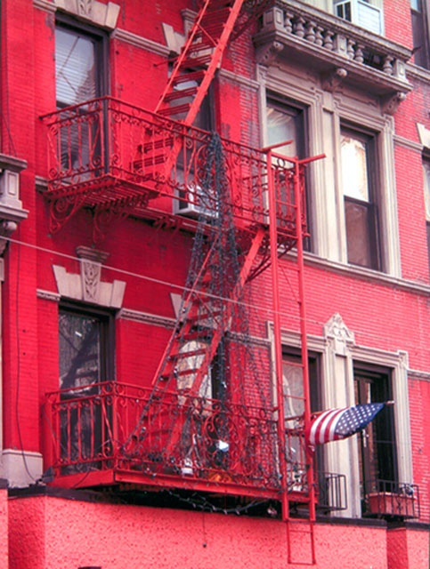 Red Building by Alison Thomas - Digital Photograph