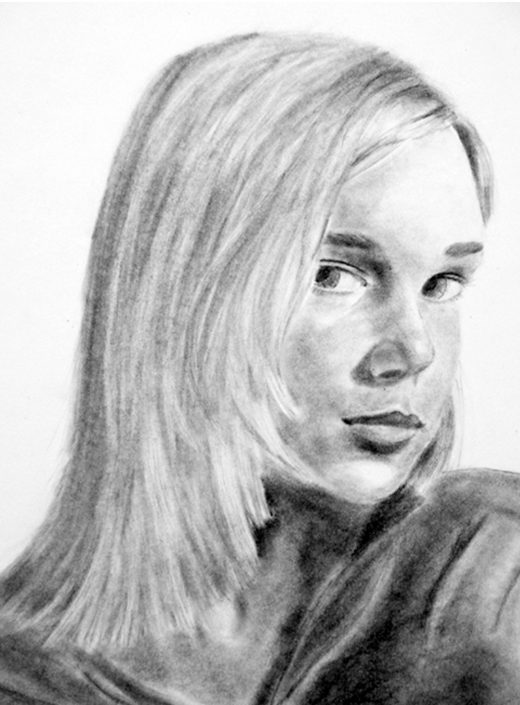 Avery by Avery Adams - Graphite on Stonehenge