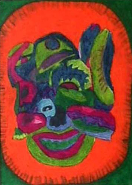 Chiquita by Beth Kincaid - Oil Pastel on Paper