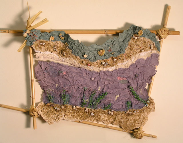 To the Romantics by Christina Grajek - Handmade Paper Landscape