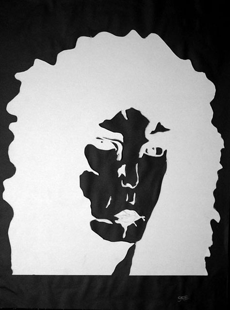 Untitled by Gabe Behm - Cut Mat Silhouette