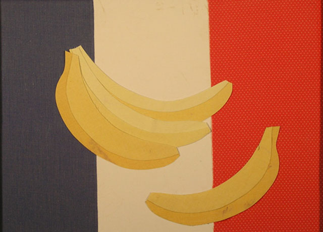 Banana Split by Jody Schwab - Fabric Collage