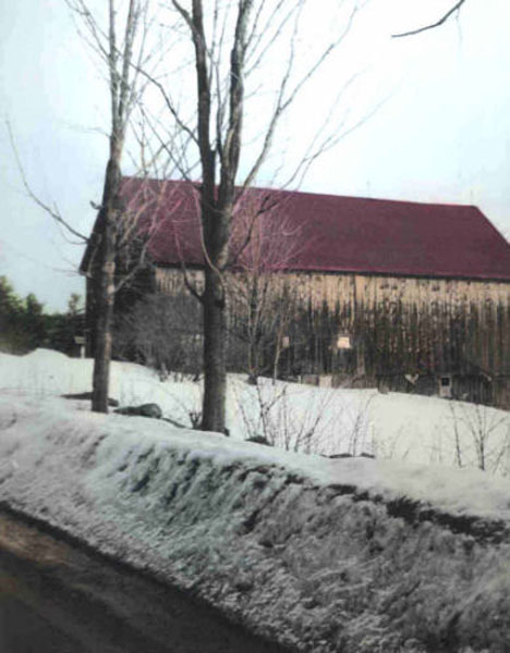 The Barn by Kara Tiede - Hand-tinted B & W Photograph
