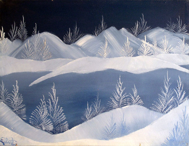 One Winter's Day by Kevin Elliot - Oil on Canvas