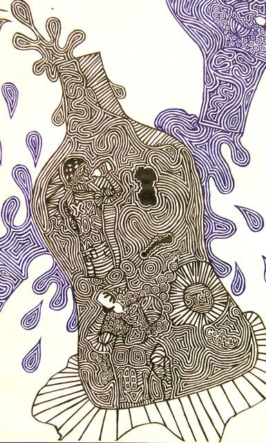 Bottles by Peter Frase - Pen & Ink on Paper