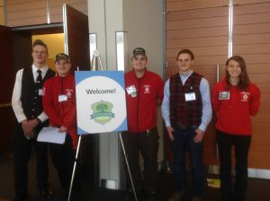 CBNA FFA Students at New England GROWS conference. From left:  Steven Chase, Ryan Graeme, Wayne Libby, Preston Bethke and Faith Wilson