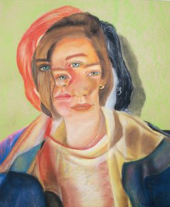 <em>Seeing Double</em> by Emily Dallaire - Pastel on Paper