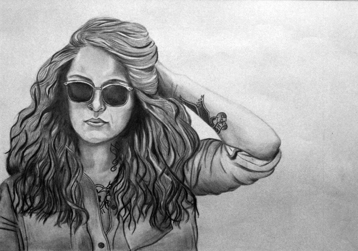 Wasted Youth by Haleigh Simmons - Charcoal