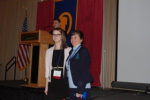 CBNA senior Brittany Guillemette with FBLA advisor Dr. JoAnn Zylak at the recent NH FBLA state conference.