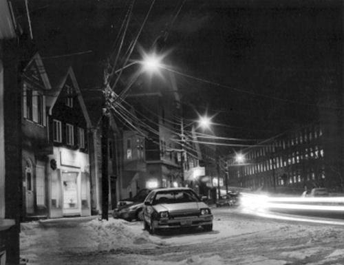 Downtown Newmarket 2002 by Christopher Boucher - B & W Photograph