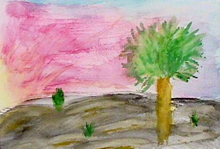 Morning and the Tree by Derek Guder - Watercolor on Paper