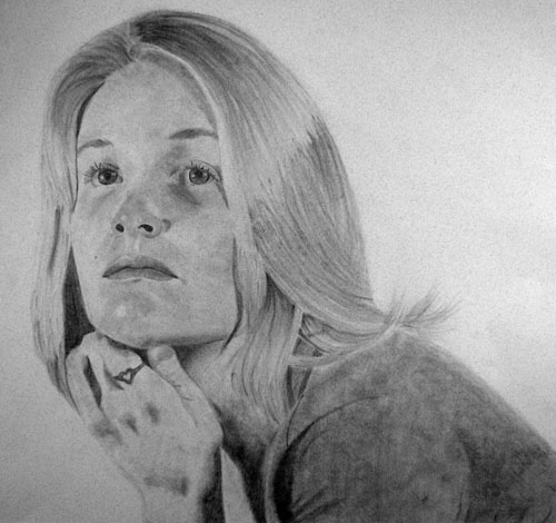 Jessey by Jana Salisbury - Graphite on Paper