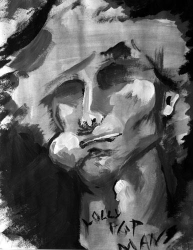Lolli Pop Man by Keith Gosselin - Tempera on Paper