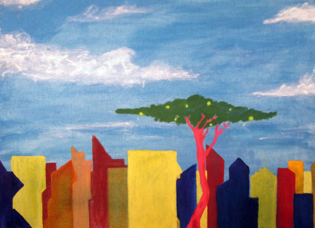 New Old World, Part I by Laif Anderson - Acrylic on Canvas