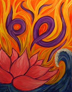 Lotus by Hayley Heath - Oil on Canvas