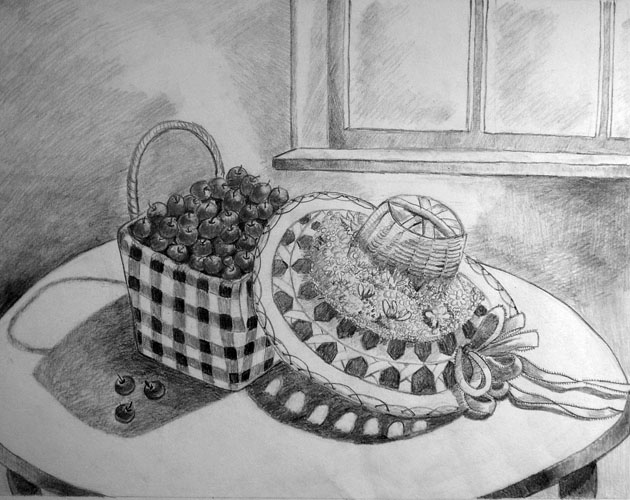 Summer Harvest by Jenna Makarewicz - Pencil on Paper