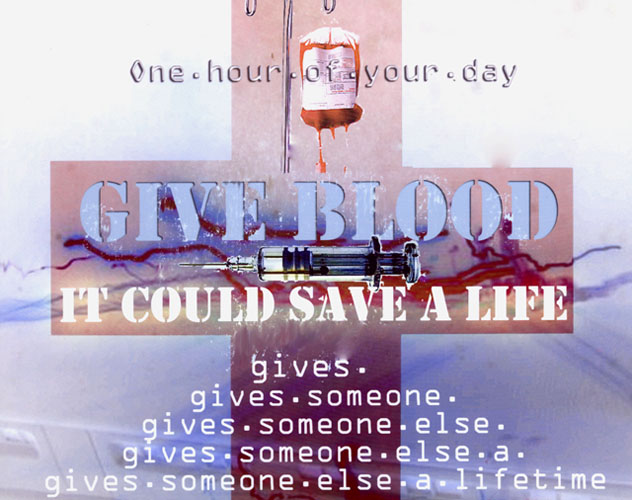 Give Blood by Nicholas Henderson - Adobe Photoshop