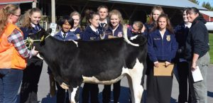 The CBNA Dairy Evaluation team at the recent NH FFA Interscholastic Competition.