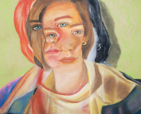 Seeing Double by Emily Dallaire - Pastel on Paper